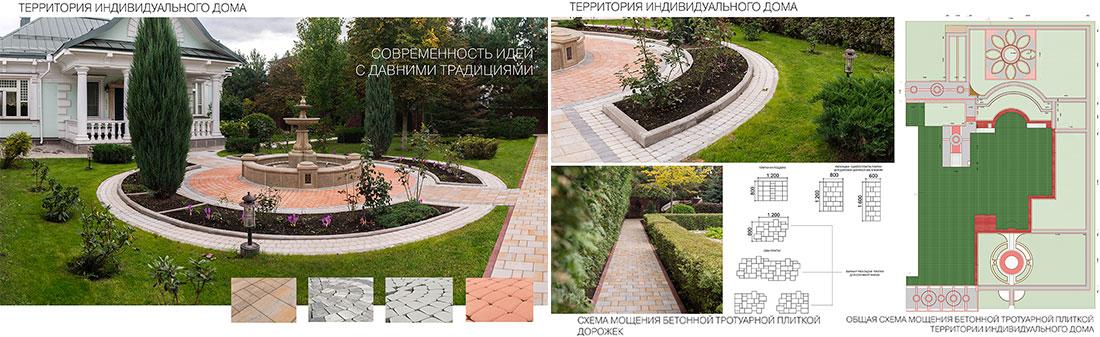 Дизайн-проект укладки тротуарной плитки на различных территориях