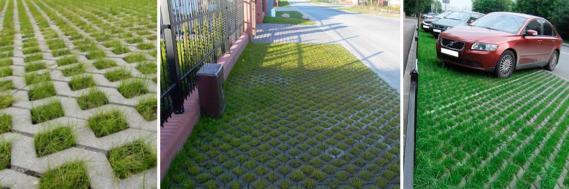 Из чего сделать газонную решетку своими руками 32